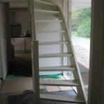 Witte trap steek met kwart
